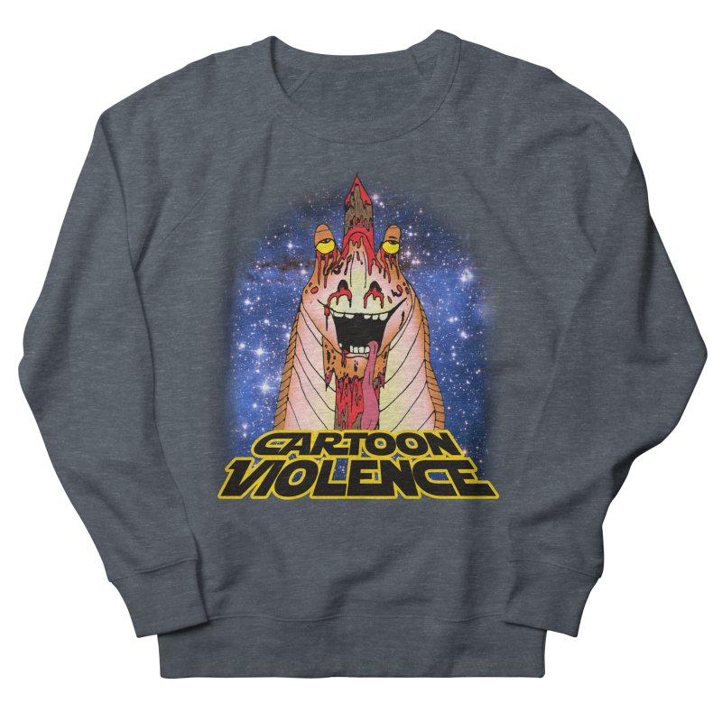 Jar Jar's Stupid Head Women's French Terry Sweatshirt by Shirts by Cartoon Violence