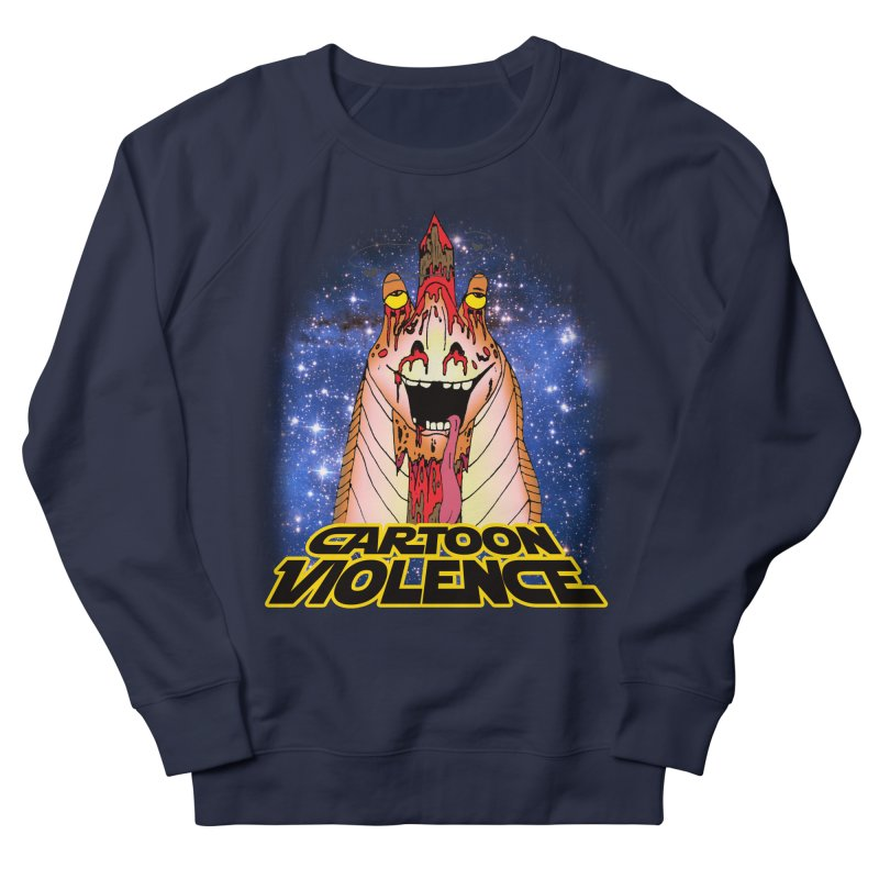 Jar Jar's Stupid Head Men's French Terry Sweatshirt by Shirts by Cartoon Violence