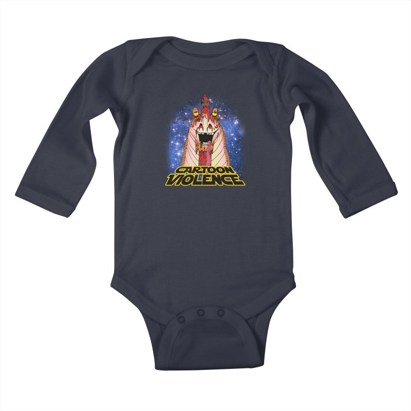 Jar Jar's Stupid Head Kids Baby Longsleeve Bodysuit by Shirts by Cartoon Violence
