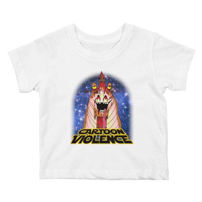 Jar Jar's Stupid Head Kids Baby T-Shirt by Shirts by Cartoon Violence