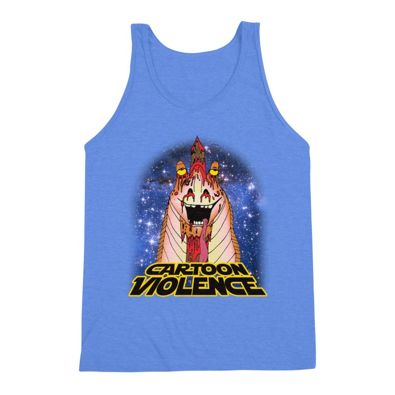 Jar Jar's Stupid Head Men's Triblend Tank by Shirts by Cartoon Violence