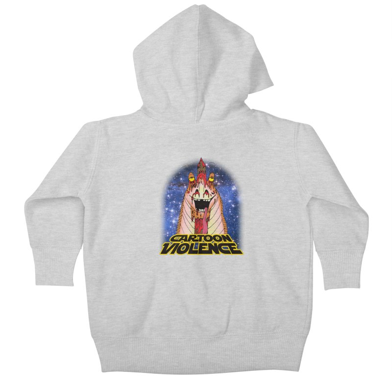 Jar Jar's Stupid Head Kids Baby Zip-Up Hoody by Shirts by Cartoon Violence