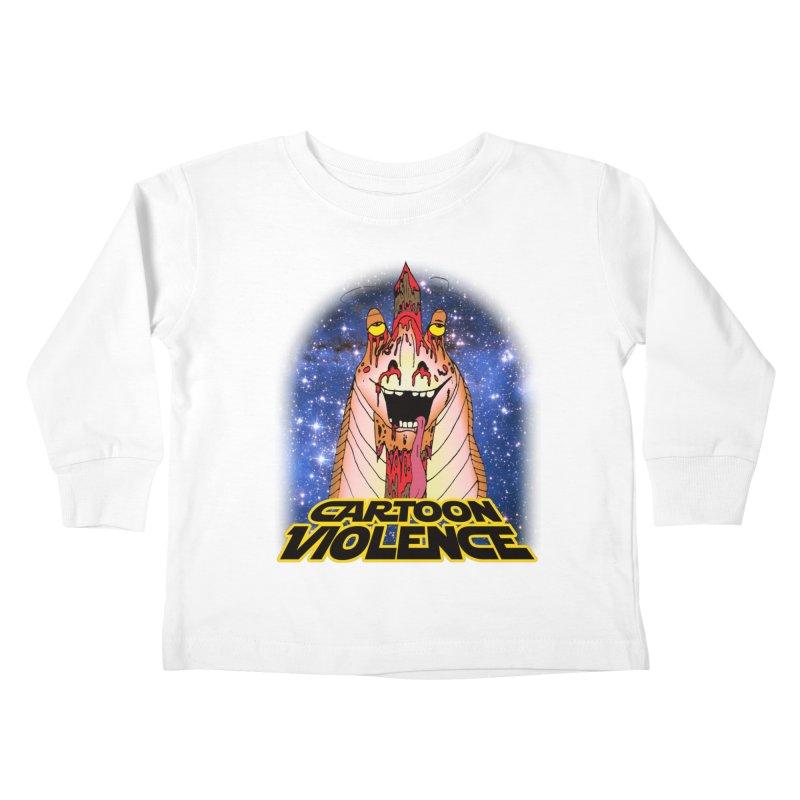 Jar Jar's Stupid Head Kids Toddler Longsleeve T-Shirt by Shirts by Cartoon Violence