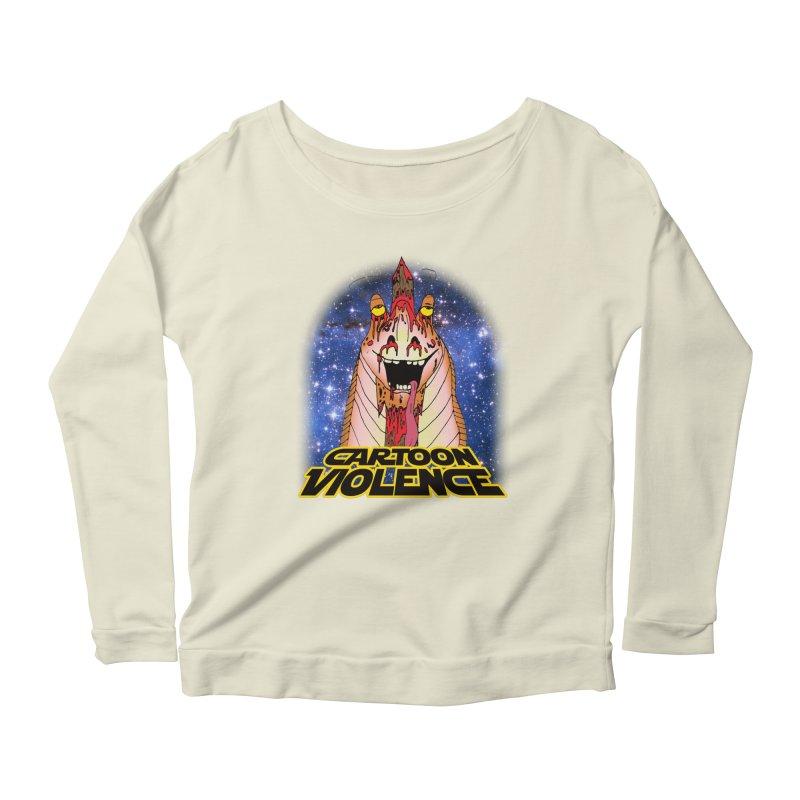Jar Jar's Stupid Head Women's Scoop Neck Longsleeve T-Shirt by Shirts by Cartoon Violence
