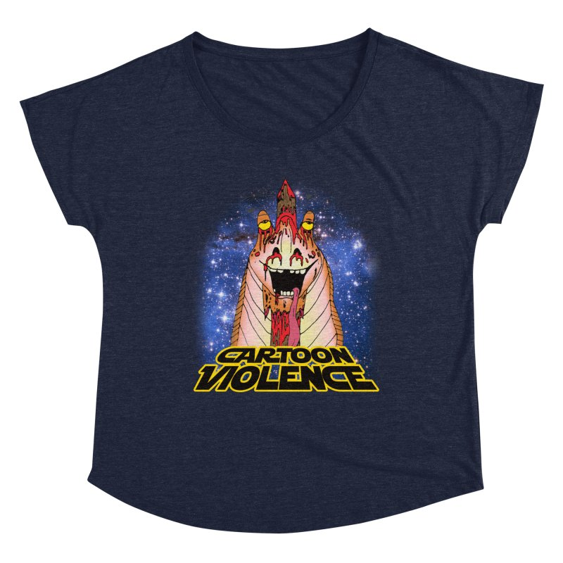 Jar Jar's Stupid Head Women's Scoop Neck by Shirts by Cartoon Violence