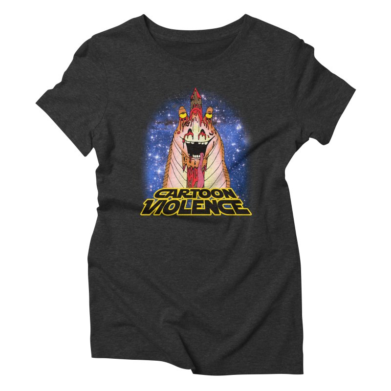 Jar Jar's Stupid Head Women's Triblend T-Shirt by Shirts by Cartoon Violence