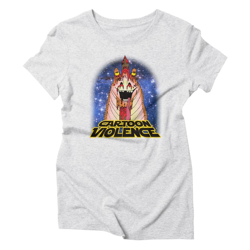Jar Jar's Stupid Head Women's Triblend T-Shirt by Shirts by Cartoon Violence