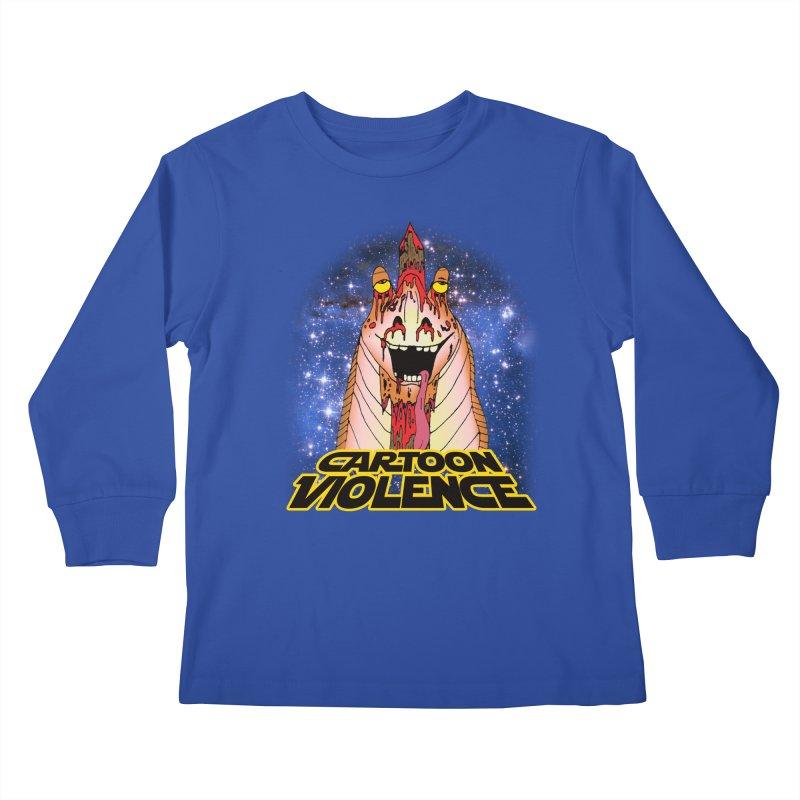 Jar Jar's Stupid Head Kids Longsleeve T-Shirt by Shirts by Cartoon Violence