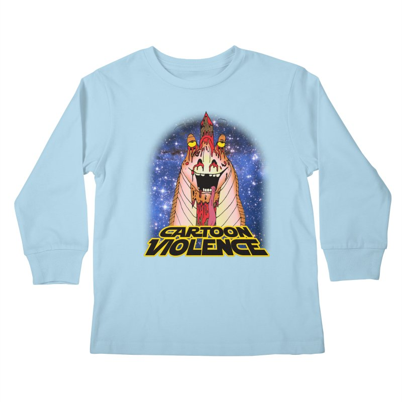 Jar Jar's Stupid Head Kids Longsleeve T-Shirt by Shirts by Cartoon Violence