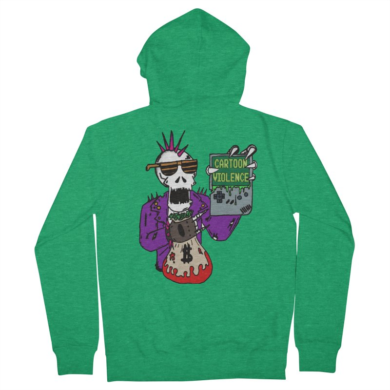 Death Taxes and Chiptunes Women's Zip-Up Hoody by Shirts by Cartoon Violence