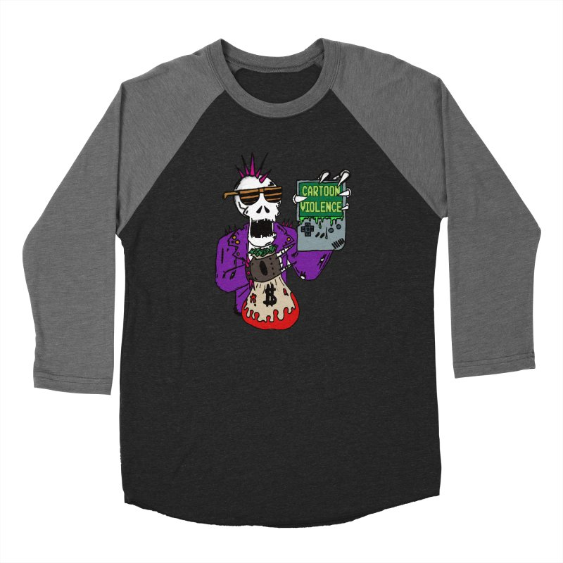Death Taxes and Chiptunes Men's Baseball Triblend Longsleeve T-Shirt by Shirts by Cartoon Violence