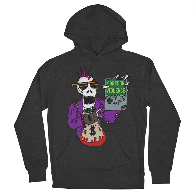 Death Taxes and Chiptunes Women's French Terry Pullover Hoody by Shirts by Cartoon Violence