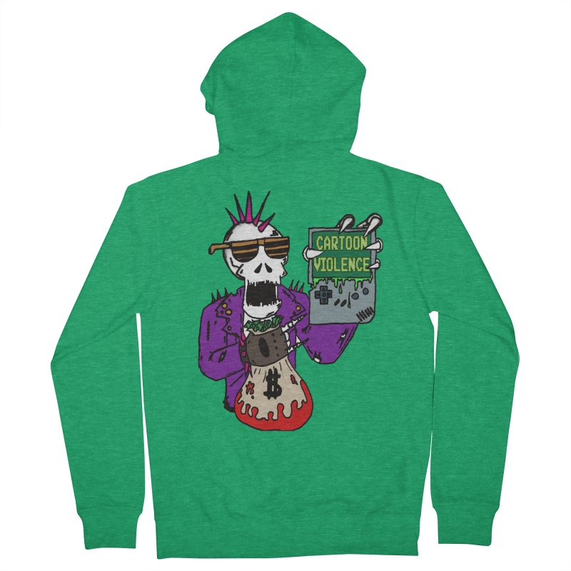 Death Taxes and Chiptunes Women's French Terry Zip-Up Hoody by Shirts by Cartoon Violence