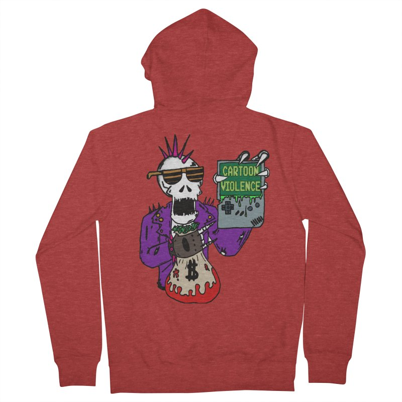 Death Taxes and Chiptunes Men's French Terry Zip-Up Hoody by Shirts by Cartoon Violence