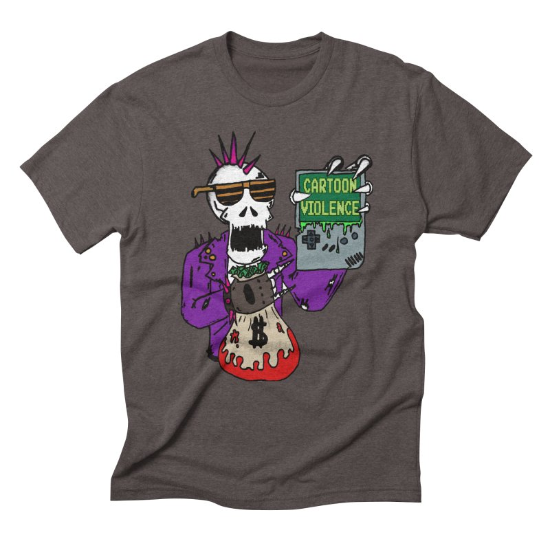 Death Taxes and Chiptunes Men's Triblend T-Shirt by Shirts by Cartoon Violence