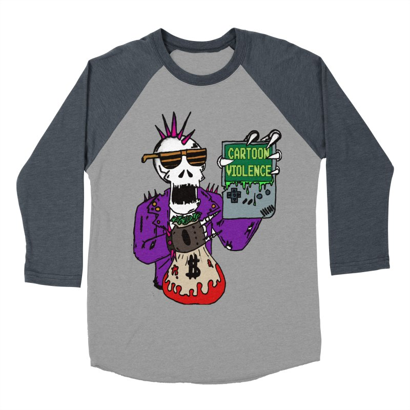 Death Taxes and Chiptunes Women's Baseball Triblend Longsleeve T-Shirt by Shirts by Cartoon Violence