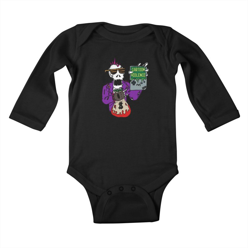Death Taxes and Chiptunes Kids Baby Longsleeve Bodysuit by Shirts by Cartoon Violence