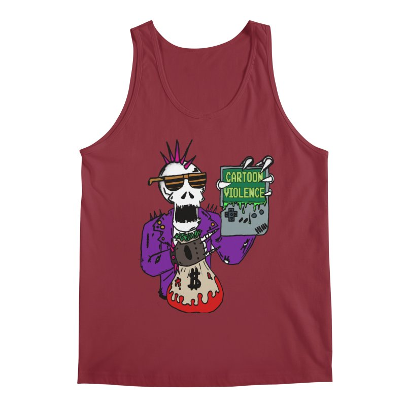 Death Taxes and Chiptunes Men's Regular Tank by Shirts by Cartoon Violence