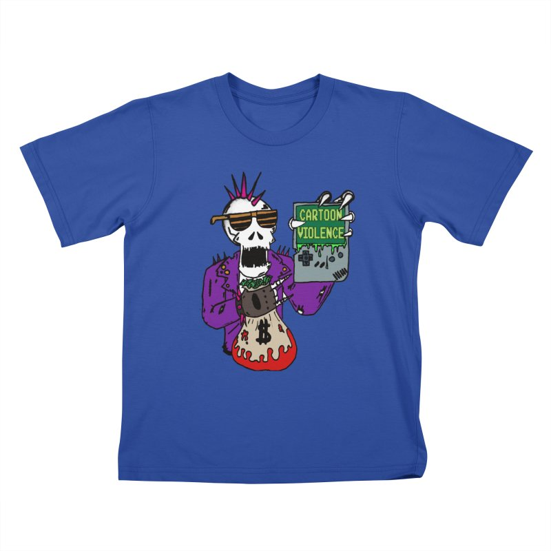 Death Taxes and Chiptunes Kids T-Shirt by Shirts by Cartoon Violence