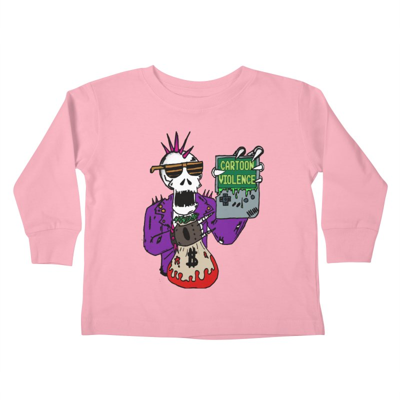 Death Taxes and Chiptunes Kids Toddler Longsleeve T-Shirt by Shirts by Cartoon Violence