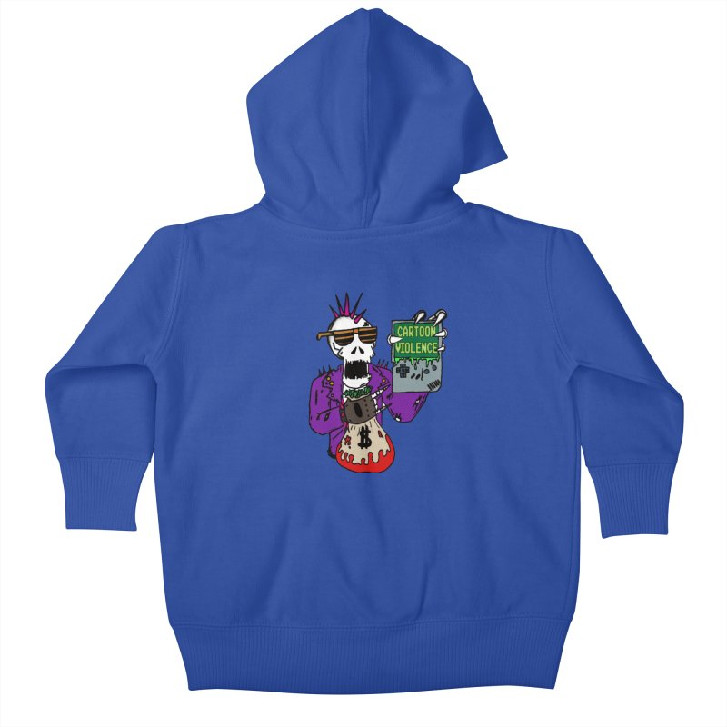 Death Taxes and Chiptunes Kids Baby Zip-Up Hoody by Shirts by Cartoon Violence