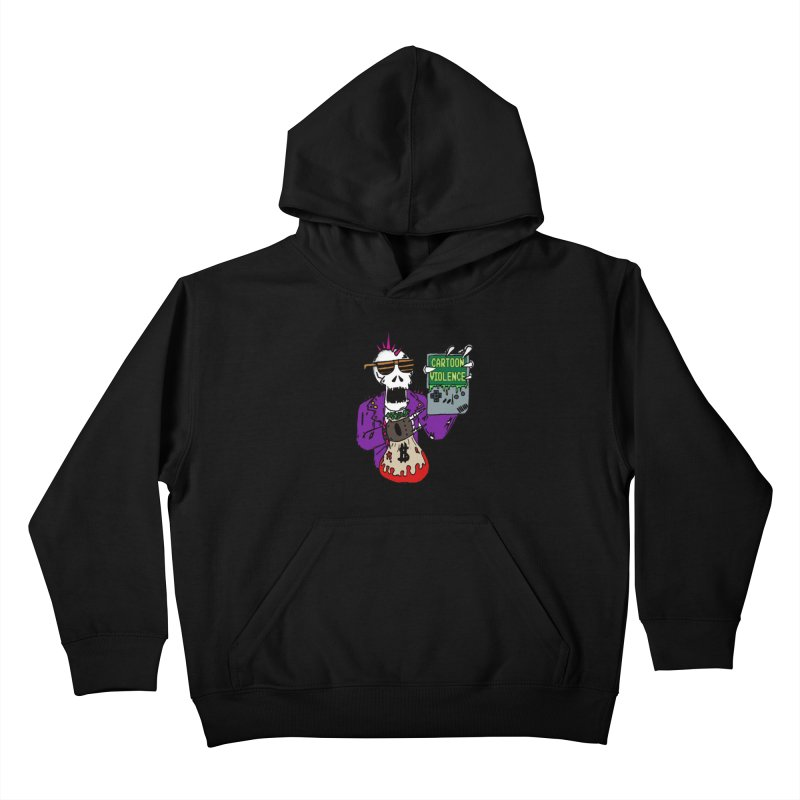 Death Taxes and Chiptunes Kids Pullover Hoody by Shirts by Cartoon Violence