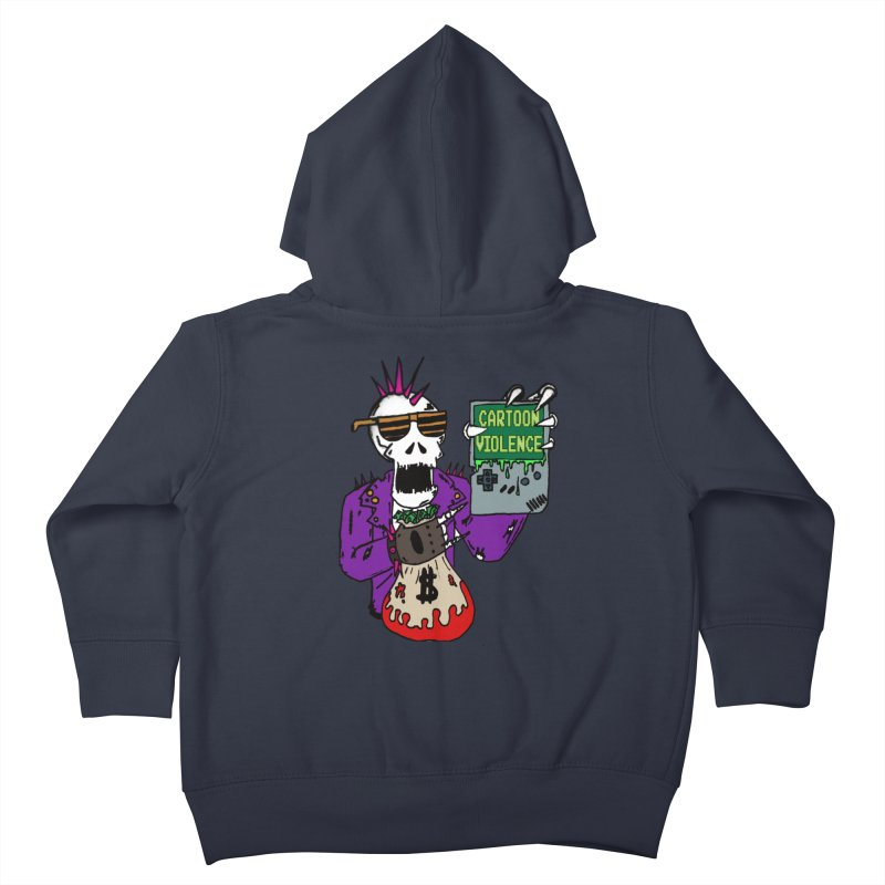 Death Taxes and Chiptunes Kids Toddler Zip-Up Hoody by Shirts by Cartoon Violence