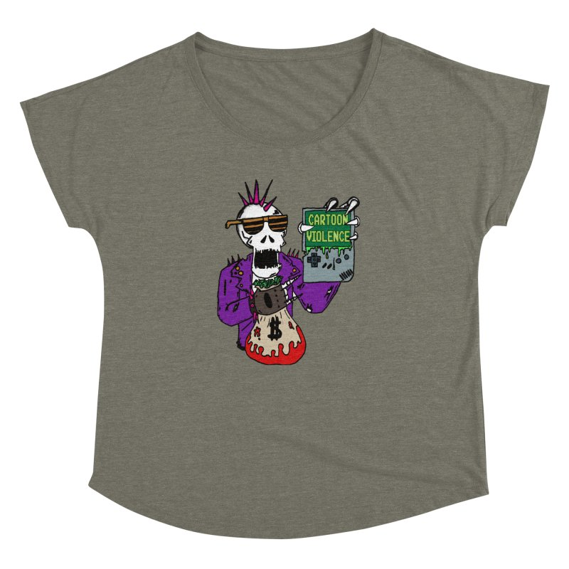 Death Taxes and Chiptunes Women's Dolman Scoop Neck by Shirts by Cartoon Violence