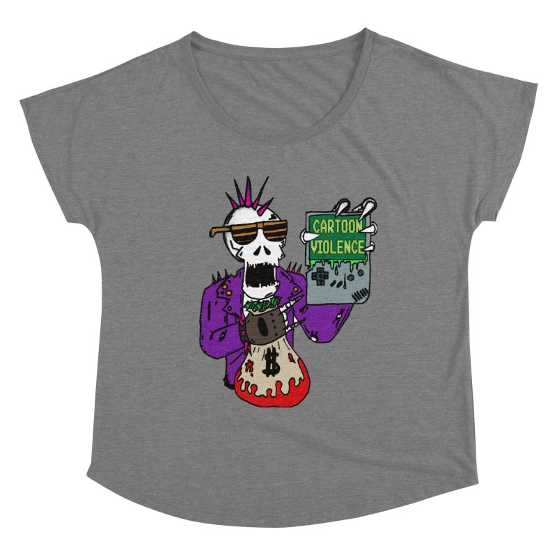 Death Taxes and Chiptunes Women's Scoop Neck by Shirts by Cartoon Violence