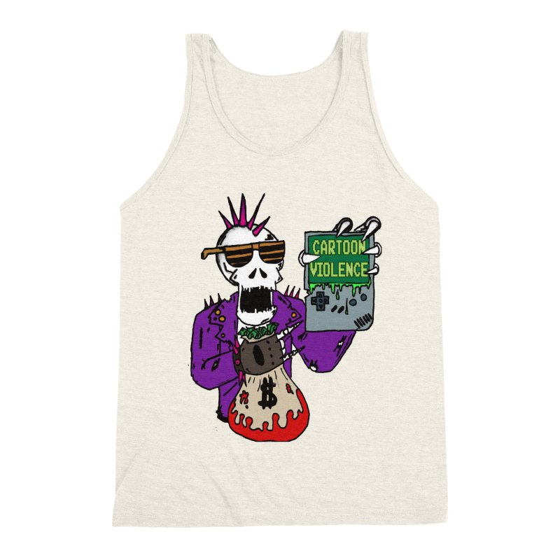 Death Taxes and Chiptunes Men's Triblend Tank by Shirts by Cartoon Violence