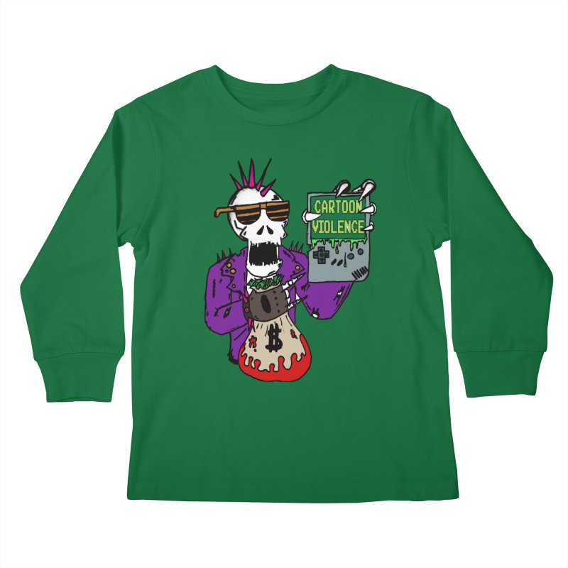 Death Taxes and Chiptunes Kids Longsleeve T-Shirt by Shirts by Cartoon Violence