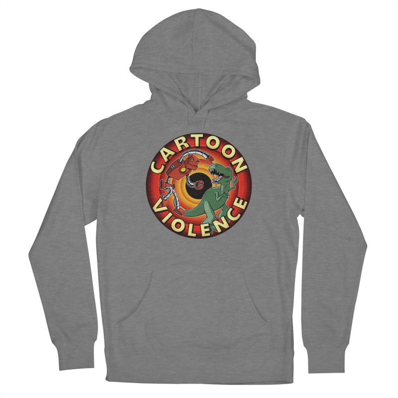 Robots and Dinosaurs CD (art by Adam Davis) Women's Pullover Hoody by Shirts by Cartoon Violence