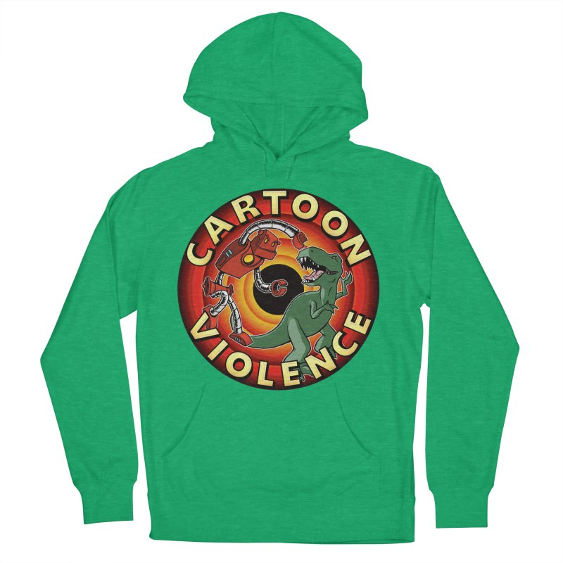 Robots and Dinosaurs CD (art by Adam Davis) Women's French Terry Pullover Hoody by Shirts by Cartoon Violence