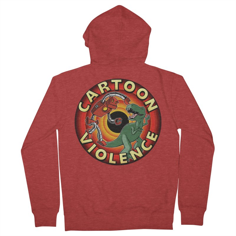 Robots and Dinosaurs CD (art by Adam Davis) Men's French Terry Zip-Up Hoody by Shirts by Cartoon Violence