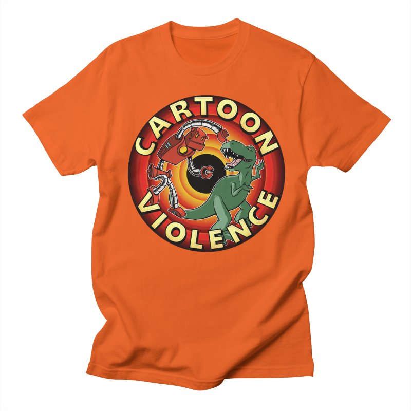 Robots and Dinosaurs CD (art by Adam Davis) Men's T-Shirt by Shirts by Cartoon Violence