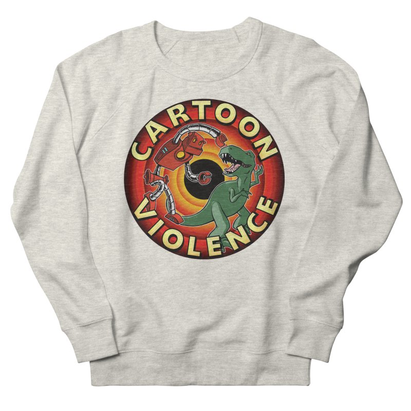 Robots and Dinosaurs CD (art by Adam Davis) Women's French Terry Sweatshirt by Shirts by Cartoon Violence