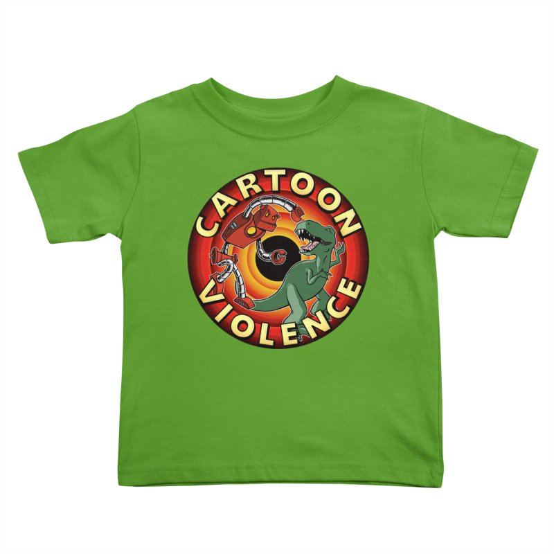Robots and Dinosaurs CD (art by Adam Davis) Kids Toddler T-Shirt by Shirts by Cartoon Violence