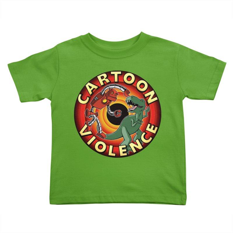 Robots and Dinosaurs CD (art by Adam Davis) Kids Toddler T-Shirt by Shirts by Cartoon Violence