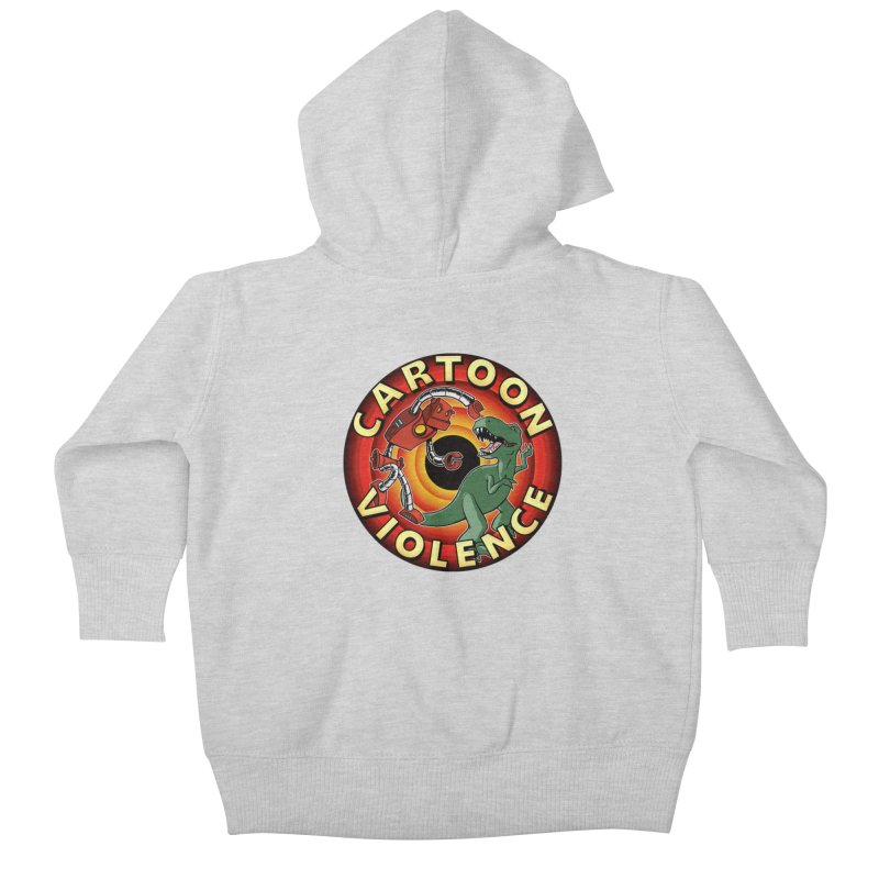 Robots and Dinosaurs CD (art by Adam Davis) Kids Baby Zip-Up Hoody by Shirts by Cartoon Violence