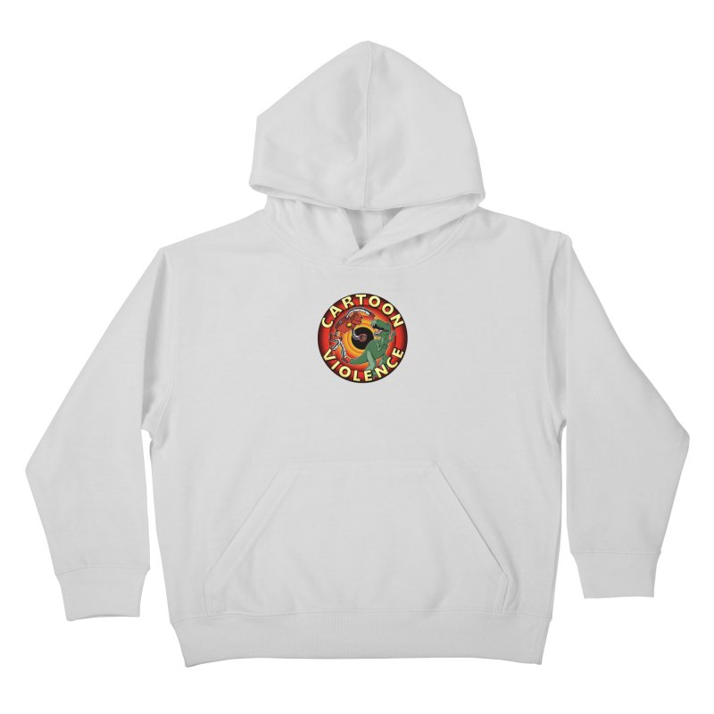 Robots and Dinosaurs CD (art by Adam Davis) Kids Pullover Hoody by Shirts by Cartoon Violence
