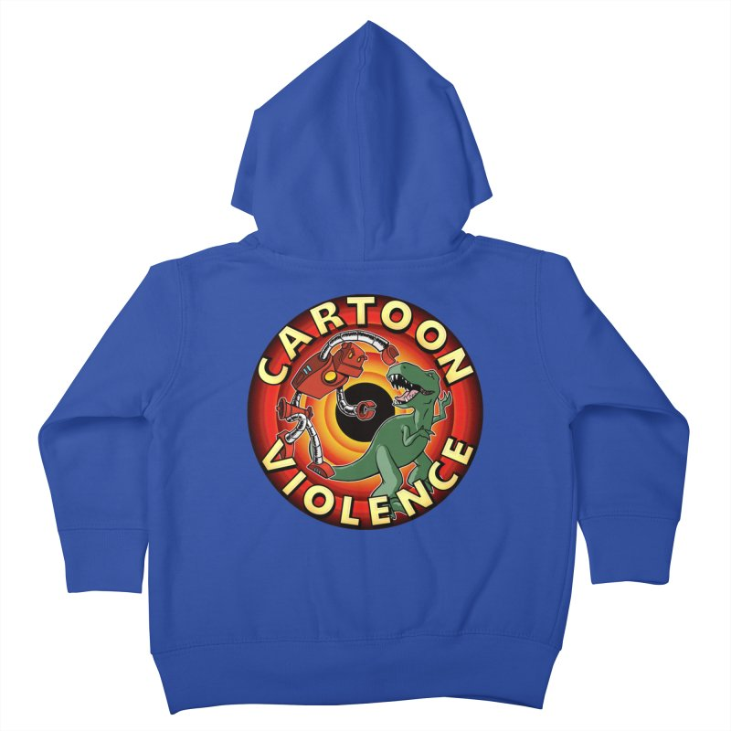 Robots and Dinosaurs CD (art by Adam Davis) Kids Toddler Zip-Up Hoody by Shirts by Cartoon Violence