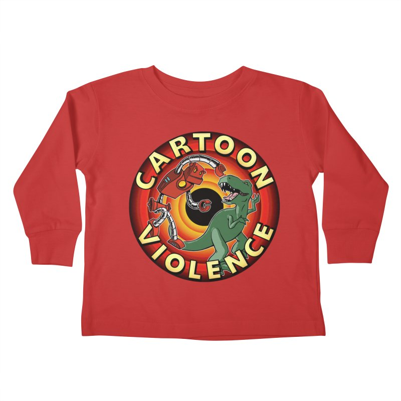 Robots and Dinosaurs CD (art by Adam Davis) Kids Toddler Longsleeve T-Shirt by Shirts by Cartoon Violence