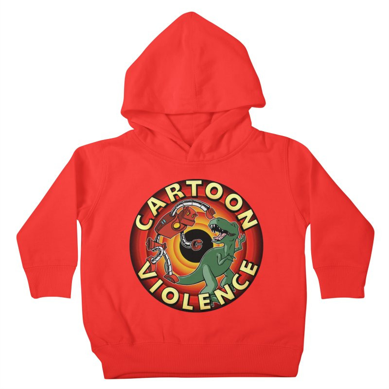 Robots and Dinosaurs CD (art by Adam Davis) Kids Toddler Pullover Hoody by Shirts by Cartoon Violence