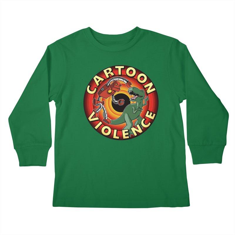 Robots and Dinosaurs CD (art by Adam Davis) Kids Longsleeve T-Shirt by Shirts by Cartoon Violence