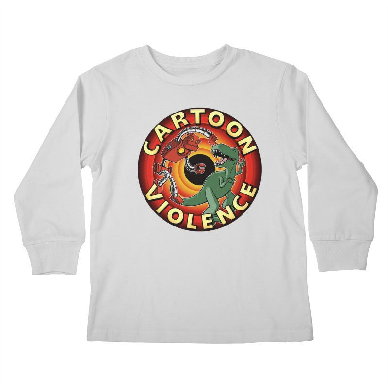 Robots and Dinosaurs CD (art by Adam Davis) Kids Longsleeve T-Shirt by Shirts by Cartoon Violence