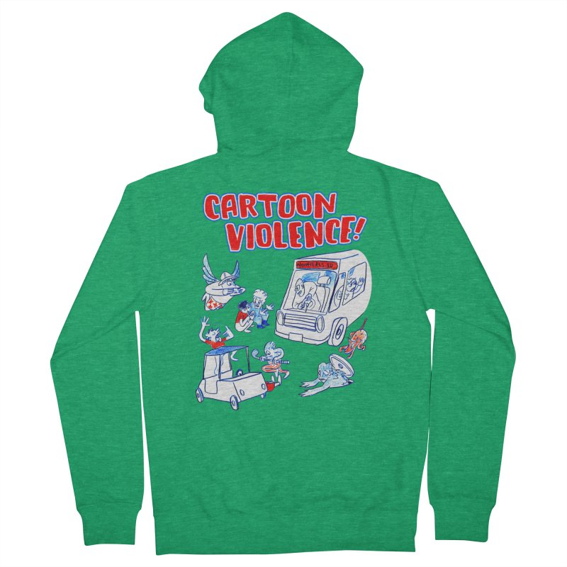 Get Ready For Cartoon Violence! Men's Zip-Up Hoody by Shirts by Cartoon Violence