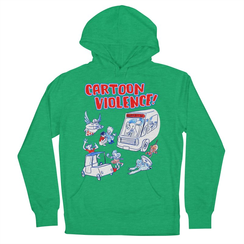Get Ready For Cartoon Violence! Men's French Terry Pullover Hoody by Shirts by Cartoon Violence