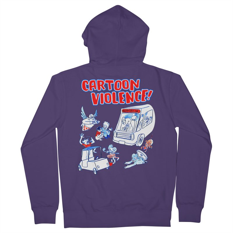 Get Ready For Cartoon Violence! Women's Zip-Up Hoody by Shirts by Cartoon Violence