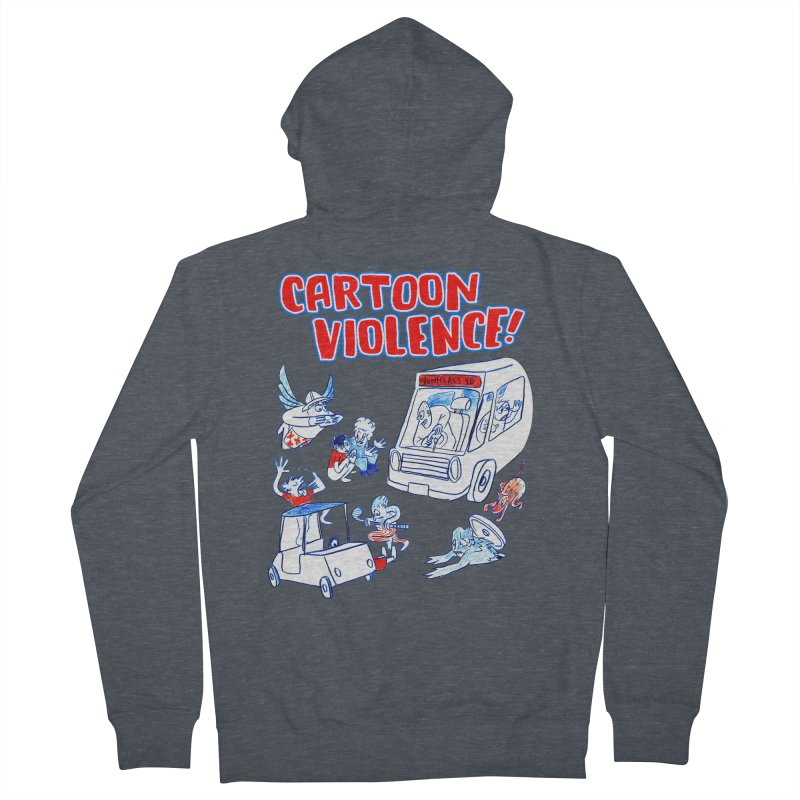 Get Ready For Cartoon Violence! Men's French Terry Zip-Up Hoody by Shirts by Cartoon Violence