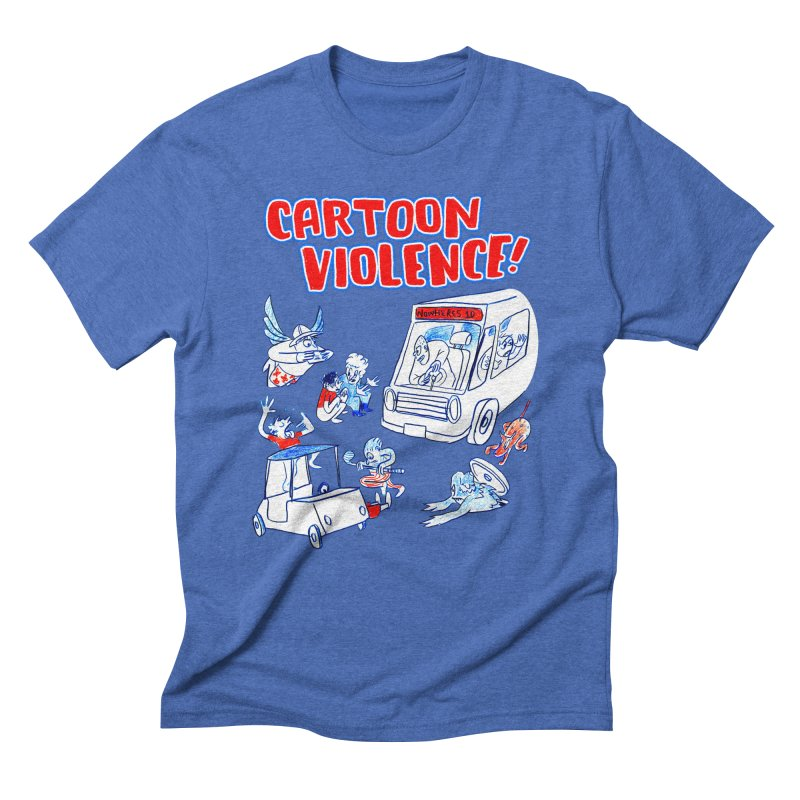 Get Ready For Cartoon Violence! Men's Triblend T-Shirt by Shirts by Cartoon Violence